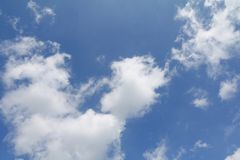 Blue sky with cloud bright beautiful art of nature. And copy space for add text Royalty Free Stock Photography