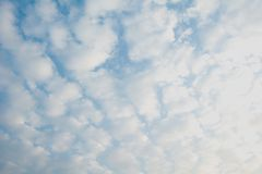 Blue sky with cloud, clean energy power, clear weather backgroun. D Royalty Free Stock Photography