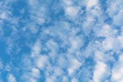 Blue sky with cloud, clean energy power, clear weather. Background Royalty Free Stock Photo