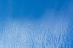 Blue sky with cloud, clean energy power, clear weather. Background Stock Photography