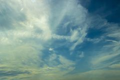 Blue sky with cloud. Clear day background Royalty Free Stock Photography