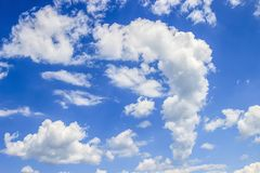 Blue sky with cloud. Clear day background Stock Image