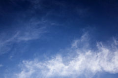 Blue sky with cloud. In clearly day Royalty Free Stock Photography