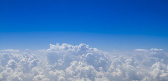 Blue sky with cloud close up Stock Image