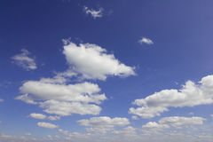 Blue sky with cloud. Closeup Royalty Free Stock Image