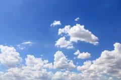 Blue sky with cloud closeup Stock Photos