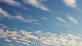 Blue sky with cloud closeup stock footage