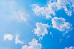 Blue sky with cloud. Closeup Stock Photo