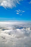 Blue sky with cloud closeup Stock Image