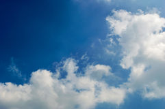 Blue sky with cloud closeup background nature Royalty Free Stock Image