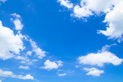 Blue sky with cloud closeup. Blue sky background with white clouds Stock Image