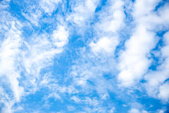 Blue sky with cloud closeup.beautiful blue sky with clouds background.Dramatic sky with stormy. Clouds Royalty Free Stock Photos