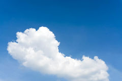 Blue sky with cloud closeup Blue sky with clouds background. Stock Images