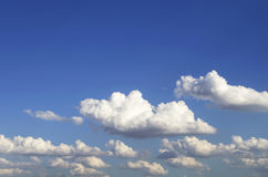 Blue sky with cloud closeup.Closeup blue sky and fluffy clouds b Royalty Free Stock Photography