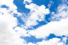 Blue sky with cloud closeup. Blue Sky and Clouds closed up Stock Image