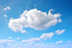 Blue sky with cloud closeup. Royalty Free Stock Image