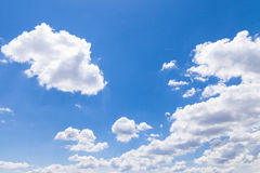 Blue sky with cloud closeup Stock Photography