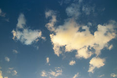 Blue sky with cloud. Royalty Free Stock Photography