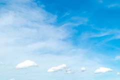 Blue sky with cloud. Cloudscape background Stock Images