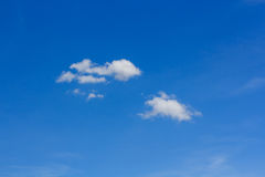 Blue Sky with Cloud on Cloudy Day. Stock Images