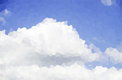 Blue sky and cloud. In crystal texture Royalty Free Stock Image