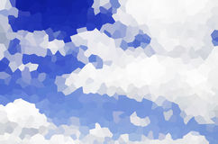 Blue sky and cloud. In crystal texture Stock Image