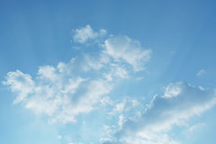 Blue Sky in Cloud Day. And lighting Royalty Free Stock Image