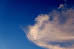 Blue sky with cloud. Royalty Free Stock Photo