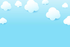 Blue sky and cloud with drop shadow natural background simply ge Royalty Free Stock Image