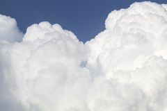 Blue sky with cloud formations Stock Photo