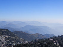 Blue sky, cloud and hills in India Stock Image