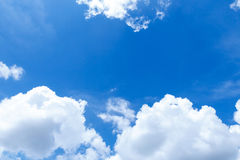 Blue sky. Blue sky with cloud in the morning Royalty Free Stock Image