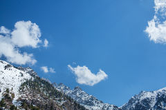 Blue sky and cloud mountains  in Almaty, Kazakhstan, Medeo Stock Photos