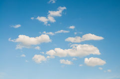 Blue sky and cloud. Nature background Royalty Free Stock Photo