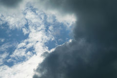 Blue sky cloud. Nature cloudscape with blue sky and white cloud Stock Photo