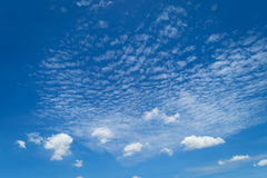 Blue sky cloud. Nature cloudscape with blue sky and white cloud Stock Images