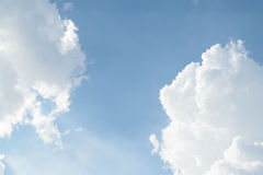 Blue sky cloud. Nature cloudscape with blue sky and white cloud Royalty Free Stock Images
