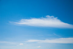 Blue sky with cloud. Nice weather Royalty Free Stock Photos