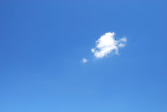 Blue sky with cloud. Blue sky with one cloud Royalty Free Stock Photo