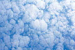 Blue sky with cloud pattern Royalty Free Stock Photo