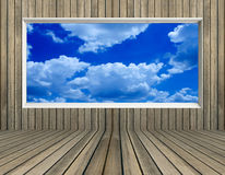 Blue sky and cloud in picture frame Royalty Free Stock Image