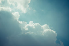 Blue sky cloud , process in vintage style Royalty Free Stock Photography