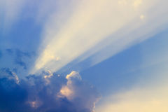 Blue sky cloud with ray Royalty Free Stock Photography