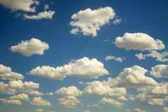 Blue Sky Cloud Scape Stock Image