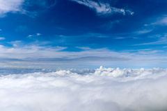 Blue sky cloud. And sea of mist royalty free stock photo