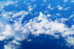 Blue sky with cloud seen on airplane Royalty Free Stock Photo