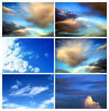 Blue sky with cloud, sky back Royalty Free Stock Photo