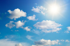 Blue sky with cloud Stock Image