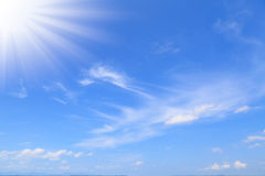 Blue sky with cloud Royalty Free Stock Images