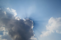 Blue sky and cloud with sun light Royalty Free Stock Photos